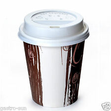 Coffee to go Becher 200 ml Pappbecher Enjoy 0,2 l Coffee to go Deckel weiß