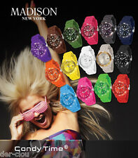 "Madison New York Uhr "" CANDY TIME "" Armbanduhr Sportuhr Farbauswahl"