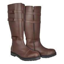 Star Wars Jedi Boots with Straps Brown for your Obi Wan Kenobi Costume - from UK