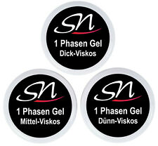 UV 3 in 1 Phasen Gel Einphasengel All in One Nagelgel klar Allround 15 30 250 ml