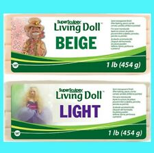 Super Sculpey LIVING DOLL LIGHT, BEIGE & BROWN 1lb 454g to 12lbs Polymer Clay