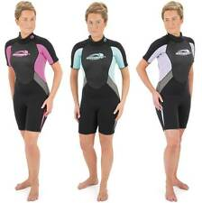 "LADIES OSPREY SHORTIE SHORTY WETSUIT 34 - 38.5"" CHEST SAILING DIVING SURFING"