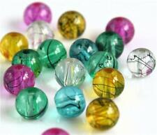 BUY1 BAG GET1 FREE PICK & MIX TRANSLUCENT DRIZZLE DRAWBENCH GLASS BEADS 4,6,8mm