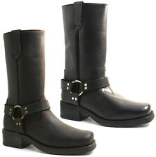 MENS GRINGOS COWBOY LEATHER CALF BOOTS SIZE UK 6 - 12 BLACK OR BROWN M156 KD
