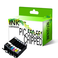 CHIPPED Ink Cartridge for Pixma iP7250 MG5450 MG6350 MX925 Replace PGI550 CLI551