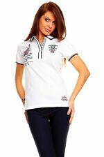 ~ Damen Polo Shirt Geographical Norway ~ Polo Hemd in Weiß ~ Gr S, M, L, XL, XXL