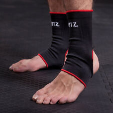Blitz Sport Elastic Ankle Supports - Black Adults Training Runnng Gym Exercise