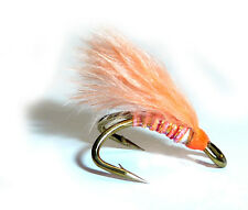 3x or 6x  CORAL STRIPPER   (MJD16)  WEE DOUBLE Trout, Sea Trout & Salmon Flies
