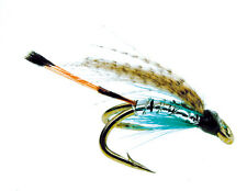 3x or 6x TEAL BLUE & SILVER  (WFD87) WEE DOUBLE Trout, Sea Trout & Salmon Flies