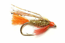 3x, 6x or 12x Fly Fishing Trout Flies (SCOT12) GOLD SPARKLER LURE Trout Fly