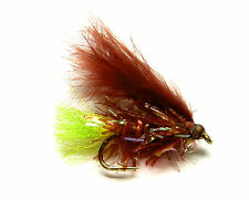 3x, 6x or 12x Fly Fishing Trout Flies (SCOT89) - MINI CLARET FRITZ -  Trout Lure