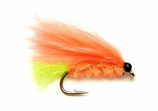 3x, 6x or 12x Fly Fishing Trout Flies (SCOT94) ORANGE VIVA MINI-LURE Trout Fly