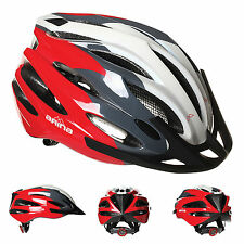 NEW ARINA QUEST CYCLE HELMET - ADULT RED / WHITE - ROAD MTB BICYCLE CYCLING BIKE