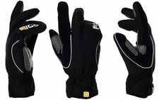 EIGO LOBSTER BLACK WINDPROOF WINTER TOURING CYCLE GLOVES