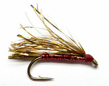 3x, 6x or 12x Fly Fishing Trout Flies (NFA15) HOLOGRAPHIC GOLD FRY Trout Fly