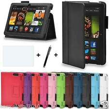 NEW LEATHER CASE COVER FOR AMAZON KINDLE FIRE 7 ALEXA VERSION , FIRE HD 8 CASES