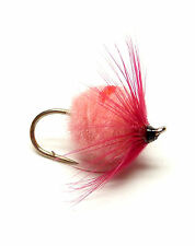 3x, 6x or 12x Fly Fishing Trout Flies (EGG12) - PINK HACKLED EGG FLY - Trout Fly