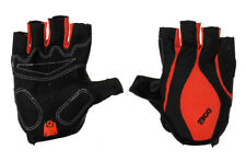EIGO CYCLING GLOVES FINGERLESS S-XL HALF FINGER BICYCLE BIKE MTB ROAD - RED