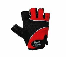 EIGO CYCLING GLOVES FINGERLESS S-XL HALF FINGER BIKE MTB ROAD GEL PADDED RED