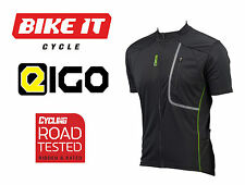 2016 EIGO TREK SHORT SLEEVE CYCLING JERSEY - BLACK / GREEN MENS CYCLE JERSEY