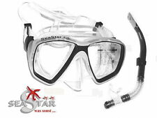 Superfeines Crystallsilicon Maske + Schnorchel Set  - Spitzenset SeaStar Limited