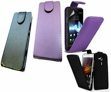 Leather Flip Vertical Cover Case Pouch For Sony Xperia SP M35H UK