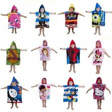 CHARACTER KIDS HOODED PONCHO TOWELS - DISNEY, LEGO, PAW PATROL, SPIDERMAN & MORE