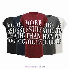 MORE ISSUES THAN VOGUE CELEBRITY T-SHIRT CELFIE TOP HIPSTER SWAG DOPE WASTED