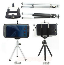 Mini Portable Tripod Stand+Mobile Phone Holder fr Samsung iPhone HTC LG Sony etc
