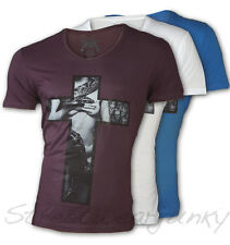 "★Chivato Herren T-shirt U-Neck "" Sexy Boa "" Slim Fit Limited Hemd clubwear Polo★"