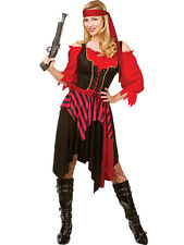 Adult Shipwrecked Pirate Outfit Fancy Dress Costume Caribbean Wench Ladies