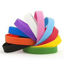 Euro Football / Olympics Plain Silicone Rubber Sport Team Wristbands Wholesale
