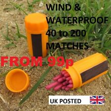 EMERGENCY WINDPROOF WATERPROOF STORM MATCHES 40-200 LIFE BOAT SAS SF TA UK POST