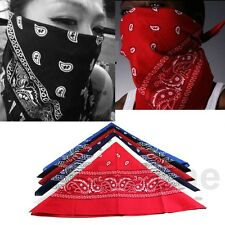 Cotton Paisley Bandanas double sided head wrap scarf