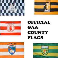 Official GAA Irish County Flags - Various Sizes - Stick & Car - All 32 Counties