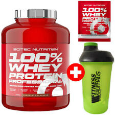 Scitec Nutrition 100% Whey Protein Professional 2350g Eiweiss + Shaker + Probe