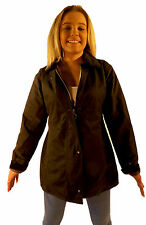 Campbell Cooper New Ladies Fitted Wax Cotton Collared Jacket Brown 8 10 12 14 16