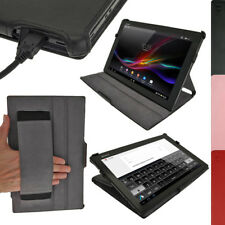 """PU Leather Folio Skin Case for Sony Xperia Tablet Z 10.1"""" Tablet Cover Holder"""