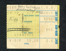1974 Kiss First Tour 5th concert ticket stub Long Beach Arena Rory Gallagher