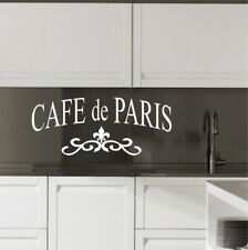Paris Wall Sticker Cafe De France home decal Eiffel tower transfer vinyl quote