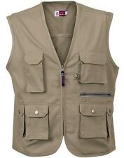 Mens Vest Waistcoat Multi-Pocket Bodywarmer Ladies Workwear Fly Fishing Hunting