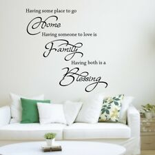 Home Family Blessing Wall Quote love decal mural vinyl sticker transfer lounge
