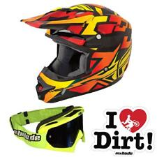 Fly 2014 Motocross Helm Kinetic Block Out Orange MX-Bude Brille Stick MX DH FR