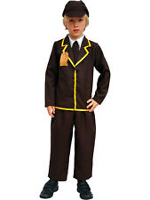 Evacuee Boy + Hat Fancy Dress WW2 1940s Child Kids World War 2 Costume Outfit