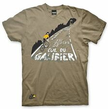 Adults Mens Tour De France 'Galibier' - Grey Cotton Cycling T-Shirt
