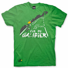 Adults Mens Tour De France 'Galibier' - Green Cotton Cycling T-Shirt