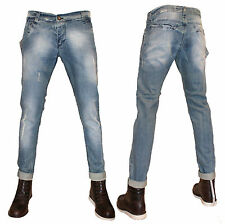 JEANS UOMO KLIXS ART 01153/Q DENIM SLIM FIT BLU TAGLIA 42 44