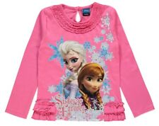 DISNEY FROZEN ANNA & ELSA LONG SLEEVE T SHIRT/TOP 3-4YRS - New