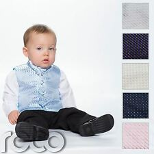 Baby Boys Waistcoat Suit, Page Boy Suits, Black Trousers, Boys Wedding Suit