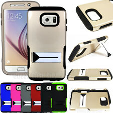 Heavy Duty Hybrid Dual Layer Impact Shock Proof Cover Case for Samsung Galaxy S6